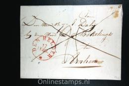 Nederland:cover Den Helder Naar Arnhem, 1832, Aankomststempel En Waszegel - Niederlande