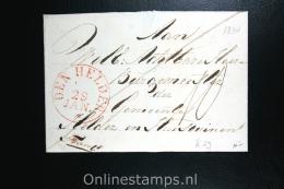 Nederland:cover Den Helder Lokaal Aan De Burgemeester, 1834, Aankomststempel - Niederlande