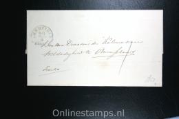 Nederland:cover Den Helder Aan De Directeur Weldadigheid Te Amstelland 1850, - ...-1852 Vorläufer