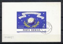 ESPACIO - RUMANÍA 1964 - Yvert #H57 - VFU - Espacio