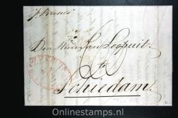 Nederland:  Complete Zeebrief  Rio De Janeiro Via  Den Helder Naar Schiedam 1838, Aankomststempel - Niederlande