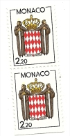 1987 - Monaco 1603a Stemma - Coppia, - Francobolli