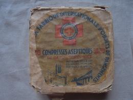 Ancien - Boite De 10 Compresses Aseptiques 30X30 - Medical & Dental Equipment