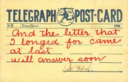 Telegraph Post-Card - Poste & Facteurs