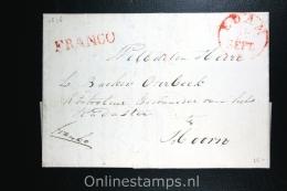 Nederland: Cover Edam Naar Hoorn 1836, Franco En Aankomststempel (vaag) - Niederlande