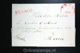 Nederland: Cover Edam Naar Hoorn 1836, Franco En Aankomststempel (vaag) - Nederland