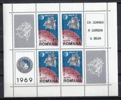 ESPACIO - RUMANÍA 1969 - Yvert #H74 - MNH ** - Espacio