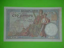 R!R!,Yugoslavia Kingdom,Serbia,100 Dinara 1934.,rare Banknote,paper Money,bill,vintage - Joegoslavië