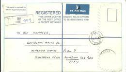 CARTA CERTIFICADA 1984 KITWE   ESCANER - Zambia (1965-...)