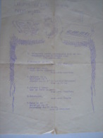 Muziek Musique Programma Chopin Viering 1949 Feestwijzer - Programas