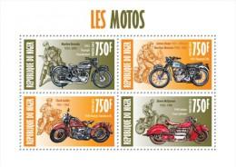 nig13413a Niger 2013 Motorcycles Motorbike Marilyn Monroe s/s