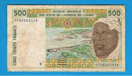WEST AFRICAN STATES  -  Guinea Bisau  -  500 Francs - Estados De Africa Occidental
