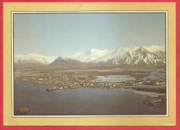 CARTOLINA VIAGGIATA ISLANDA - Panorama Aereo - ANNULLO Reykjavík  13 - 08 - 1985 - Islanda
