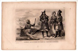 POLOGNE Costumes Modernes Des Habitants Des Environs De VARSOVIE  ( Gravure XIXème Siècle) - Other