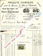 Facture 1930 LIEGE - Pierre RADEMECKER - Produits Chimiques Pour Les Sciences, Les Arts Et L´industrie - Non Classés