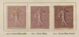 3 Timbres 20c De Couleurs Differentes. Semeuses 1904 - 1903-60 Semeuse Lignée