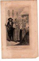 RUSSIE  Et FINLANDE Costumes Finlandais ( Gravure XIXème Siècle) - Old Paper
