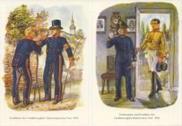 5 Briefkaarten / Postkarten BRD - Postbeambten - [7] West-Duitsland