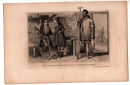 RUSSIE  Costumes De Femme VOTIAQUE Et Son Fils Costume Des OSTIAKS (Pêcheur) ( Gravure XIXème Siècle) - Other