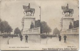 Carte Postale / Vue Stéréoscopique Julien DAMOY/Paris /Statue E.Marcel/SérieN°1/Vers 1910   STE58 - Stereo-Photographie