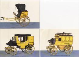 3 Briefkaarten / Postkarten BRD - Postwagens - [7] West-Duitsland