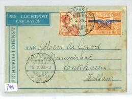 NED. INDIE * LP * BRIEFOMSLAG Uit 1933 Van MAKASSER Naar ENKHUIZEN (7991) - Niederländisch-Indien