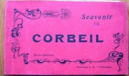 Carnet 10 Cpa CORBEIL 91 Gare, Poste, Halles, Moulins, Etc - Corbeil Essonnes