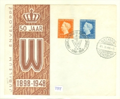 NED. INDIE * JUBILEUM * FDC Uit 1948 ONBESCHREVEN  (7997) - Indes Néerlandaises