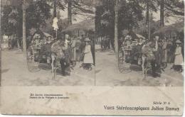 Carte Postale / Vue st�r�oscopique Julien DAMOY/Jardin d�acclimatation/voiture � Autruche/S�rieN�6/Vers 1910   STE63