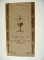 CALICE SALUTARIS    COLLEGIO S. BENEDETTO CATANIA CARTA PERGAMENA  1941   ORIGINAL  ANCIENNE  PIEUSES  HOLY CARD - Devotion Images