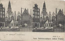 Carte Postale / Vue st�r�oscopique Julien DAMOY/Amsterdam/Ancienne Eglise/S�rieN�8/Vers 1910   STE65