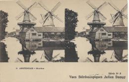 Carte Postale / Vue st�r�oscopique Julien DAMOY/Amsterdam/Moulins/S �rieN�8/Vers 1910   STE66