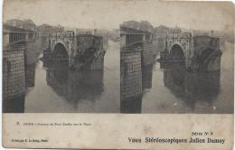 Carte Postale / Vue st�r�oscopique Julien DAMOY/Rome/Ruines du pont/S�rieN�8/Vers 1910   STE67