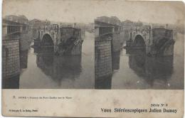 Carte Postale / Vue Stéréoscopique Julien DAMOY/Rome/Ruines Du Pont/SérieN°8/Vers 1910   STE67 - Stereo-Photographie