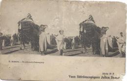 Carte Postale / Vue Stéréoscopique Julien DAMOY/Biskra/Un Attouch/SérieN°9/Vers 1910   STE68 - Photos Stéréoscopiques