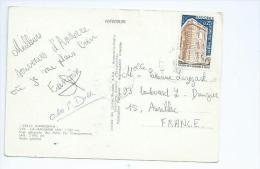 Andorre.maison De L'Andorre Sur Carte Postale Oblitéré De Canillo - Andorre Français