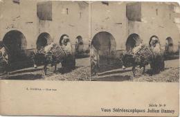 Carte Postale / Vue Stéréoscopique Julien DAMOY/Biskra/Une Rue/SérieN°9/Vers 1910   STE69 - Photos Stéréoscopiques