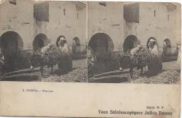 Carte Postale / Vue Stéréoscopique Julien DAMOY/Biskra/Une Rue/SérieN°9/Vers 1910   STE70 - Photos Stéréoscopiques