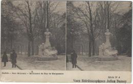 Carte Postale / Vue st�r�oscopique Julien DAMOYParis/Parc Monceau/S�rieN�4/Vers 1910   STE71