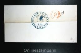 Nederland: Cover Haarlem Den Haag, 1849, Prachtig Stempel Regering Der Stad Haarlem, Aankomststempel - Niederlande