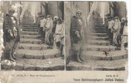 Carte Postale / Vue Stéréoscopique Julien DAMOY/Alger /Rue De Tombouctou/SérieN°5Vers 1910   STE72 - Stereo-Photographie