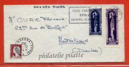 FRANCE LETTRE DE 1962 AVEC VIGNETTES DU JOURNAL DE SPIROU BANDE DESSINEE DALTON - Curiosidades: 1960-69 Cartas