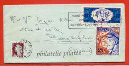 FRANCE LETTRE DE 1962 AVEC VIGNETTES DU JOURNAL DE SPIROU BANDE DESSINEE - Curiosidades: 1960-69 Cartas