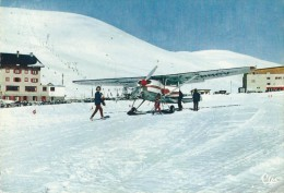 37Mé     Avion Posé Sur La Neige Sur Patins Skis - 1946-....: Modern Tijdperk
