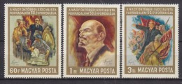 HONGRIE - N° Y&T - Série 1925/7  - Les 3 Valeurs - Cinquantenaire Revolution Octobre  - Tous N** - Neufs