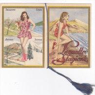 """CALENDARIETTO """"LE QUATTRO STAGIONI"""" RAGAZZE PIN-UP      1953 -2-882-17608-609 - Small : 1941-60"""