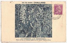 CP Jus De Raisin  Challand Les Vendanges Rebeillé Delpech Bayonne 64 Pyrénées Atlantiques Cachat Rouge Taxe Déduite Pub - Reclame