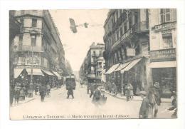 CPA 31 Toulouse L´aviation à Toulouse Moulin Traversant La Rue D´Alsace Des Années 1910 - Aviateurs