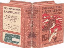 """CALENDARIETTO """"NOUVEAU PETIT LAROUSSE """" PUBBLICITA'  DELLA LIBRERIA LAROUSSE PARIS     1934 -2-882-17582-581 - Calendriers"""