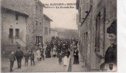 """SAINT JULIEN  Sur BIBOST (ca L´arbresle)"""" La Grande Rue"""" - France"""